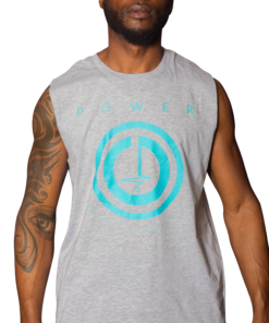 POWER Button Mens Muscle Shirt   6T4A8595   Grind Life Athletics