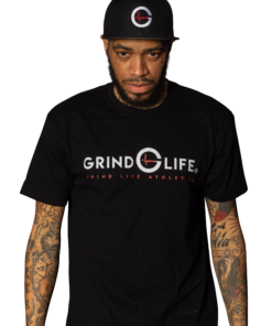 DYNAMIC DUO | White & Red | Short-Sleeve Mens Athleisure Shirt | 6T4A8569 | Grind Life Athletics