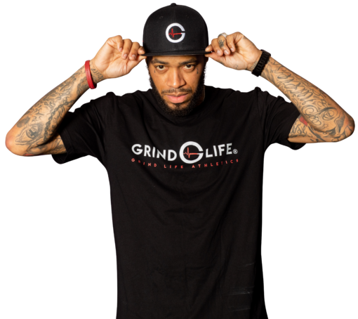 DYNAMIC DUO | White & Red | Short-Sleeve Mens Athleisure Shirt | 6T4A8571 | Grind Life Athletics