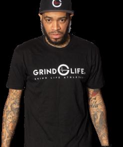 Dynamic White Short-Sleeve Mens Athleisure Shirt | 6T4A8580 | Grind Life Athletics