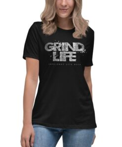 Athleisure | GLA Stone Womens Shirt | Relaxed Fit | Black | Grind Life Athletics