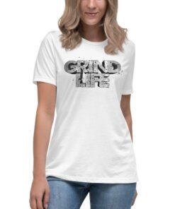 Athleisure | GLA Stone Womens Shirt | Relaxed Fit | White | Grind Life Athletics