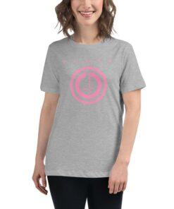 Athleisure | POWER Button Womens Shirt | Grey | Grind Life Athletics