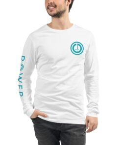 Athleisure | POWER Mens Favorite Long-sleeve T-Shirt | White Front | Grind Life Athletics