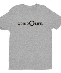DYNAMIC DUO Black Gold Short Sleeve Mens Athleisure Tee   Grey   Grind Life Athletics