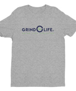 DYNAMIC DUO Navy Lime Short Sleeve Mens Athleisure Tee | Grey | Grind Life Athletics