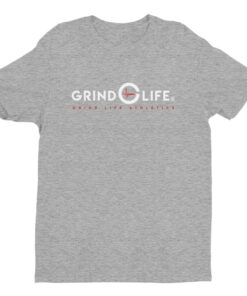 DYNAMIC DUO White Red Short Sleeve Mens Athleisure Tee | Grey | Grind Life Athletics