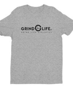 Dynamic Black Short Sleeve Mens Athleisure Tee | Grey | Grind Life Athletics