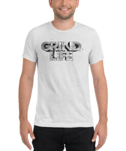 GLA Stone Workout Shirt Men | White | Grind Life Athletics