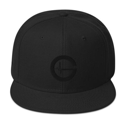 Grind Life G SILHOUETTE Men's Snapback Hat | Front | Grind Life Athletics