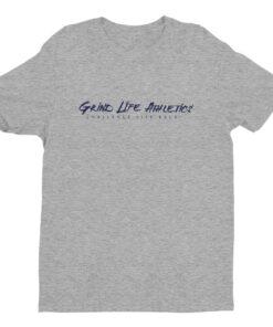 MOTIVATION Midnight Navy Mens Athleisure Shirt | Grey | Grind Life Athletics