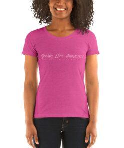 MOTIVATION Solo Pink Tri blend Fitted Workout Shirt Women | Pink | Grind Life Athletics