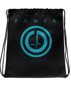 POWER Blue Drawstring Backpack | Black | Grind Life Athletics