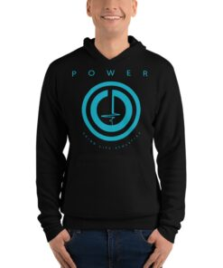 POWER Button Mens Pullover Workout Hoodie | Black | Grind Life Athletics