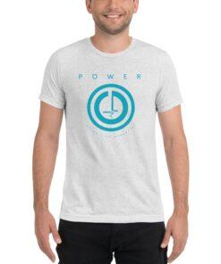 POWER Button Mens Workout T-Shirt | White | Grind Life Athletics
