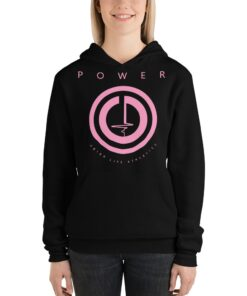 POWER Button Womens Workout Hoodie | Black | Grind Life Athletics