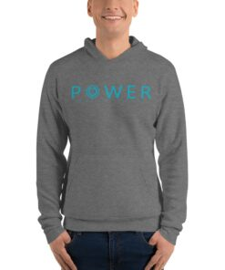 POWER Mens Pullover Workout Hoodie | Grey | Grind Life Athletics