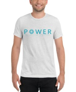 POWER Mens Workout T-Shirt | White | Grind Life Athletics