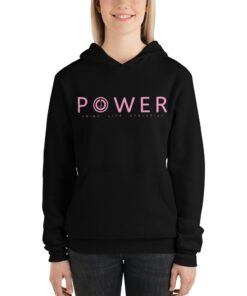 POWER Womens Workout Hoodie | Black | Grind Life Athletics