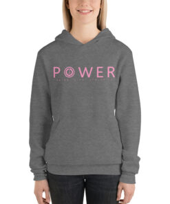 POWER Womens Workout Hoodie | Grey | Grind Life Athletics