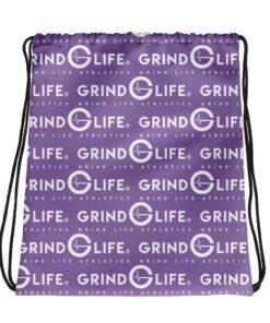 White & Lavender Drawstring Backpack | Grind Life Athletics