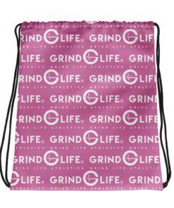White & Pink Drawstring Backpack | Grind Life Athletics