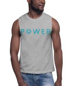 Workout Shirts Men   Power Men's Relaxed Fit Muscle Shirt   Grey   Grind Life Athletics