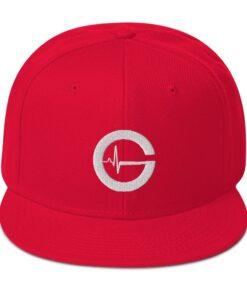 Grind Life G Mens Snapback Hat | Red | Grind Life Athletics