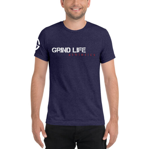 GLA Rush Nx Mens Workout Shirt | Front | Navy | Grind Life Athletics