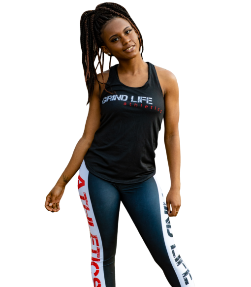 GLA Rush RB High Waisted Womens Workout Leggings   6T4A0372   Grind Life Athletics