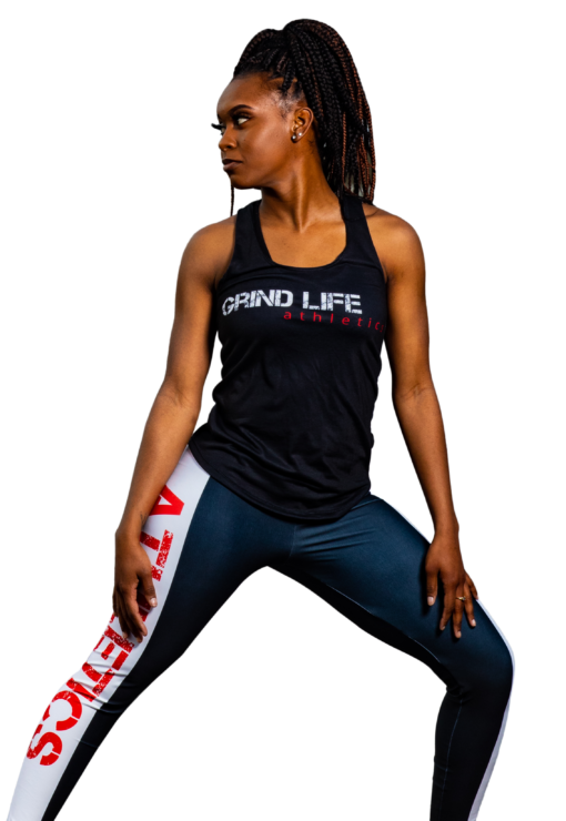 GLA Rush RB High Waisted Womens Workout Leggings   6T4A038023   Grind Life Athletics