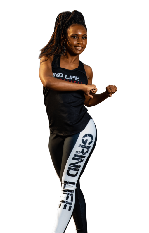 GLA Rush RB High Waisted Womens Workout Leggings   6T4A0403   Grind Life Athletics