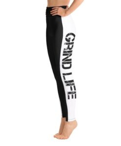 GLA Rush RB High Waisted Womens Workout Leggings | Left | Grind Life Athletics