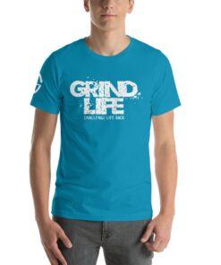 GLA Stay Solid Mens Athleisure Shirt | Front | Aqua | Grind Life Athletics