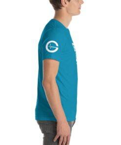 GLA Stay Solid Mens Athleisure Shirt | Side | Aqua | Grind Life Athletics