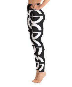 GLA BW Print Womens Workout Leggings | Left | Black | Grind Life Athletics