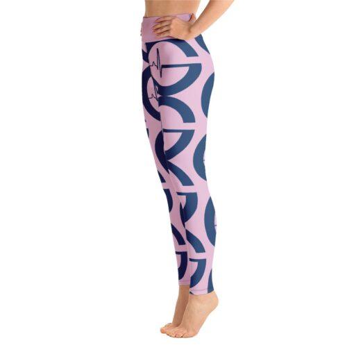 GLA Print Womens Workout Leggings   Left   Pink   Grind Life Athletics