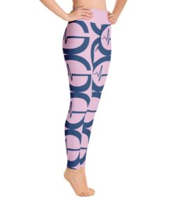GLA Print Womens Workout Leggings | Right | Pink | Grind Life Athletics