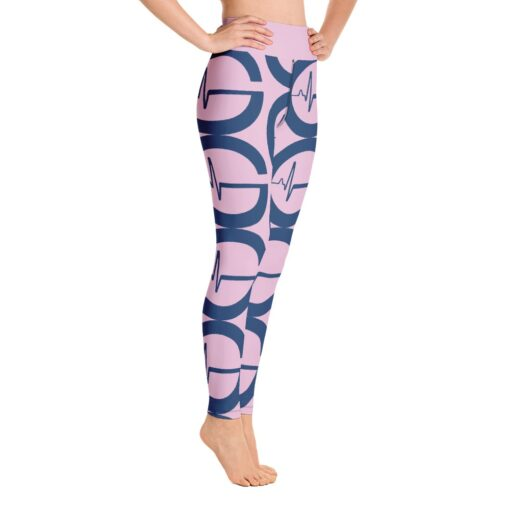 GLA Print Womens Workout Leggings   Right   Pink   Grind Life Athletics