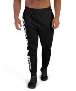 GLA SWAG Mens Joggers | Black | Front | Grind Life Athletics