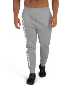 GLA SWAG Mens Joggers | Grey | Front | Grind Life Athletics