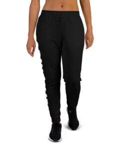 GLA SWAG Womens Joggers | Front | Black | Grind Life Athletics