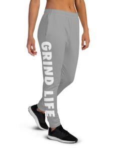 GLA SWAG Womens Joggers GW | Right | Grey | Grind Life Athletics