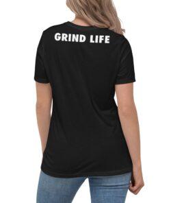 GLA SWAG Womens Tshirt | B&W | Back | Grind Life Athletics