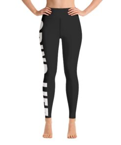 GLBW Womens Workout Leggings | Front | White | Grind Life Athletics
