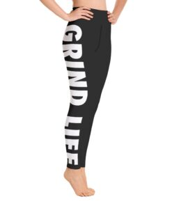 GLBW Womens Workout Leggings | Right | White | Grind Life Athletics
