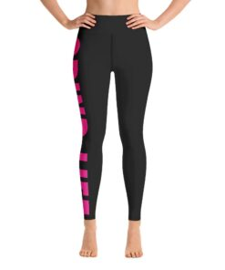 GLFB Womens Workout Leggings | Front | Fuschia | Grind Life Athletics