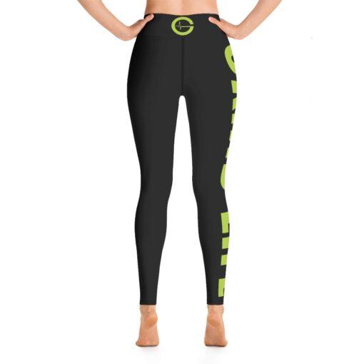 GLNG Womens Workout Leggings   Back   Lime   Grind Life Athletics
