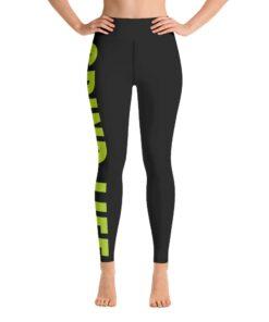 GLNG Womens Workout Leggings | Front | Lime | Grind Life Athletics