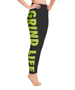 GLNG Womens Workout Leggings | Right | Lime | Grind Life Athletics